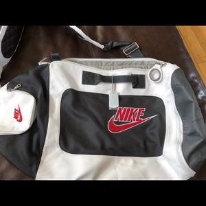 Nike leather gym bag